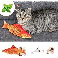 DazSpirit Katzenspielzeug Fisch, Elektrische Katze Spielzeug Fisch Katzenspielzeug Mit Katzenminze, Interaktiv Fisch…