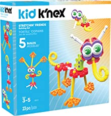 Kid K'Nex Stretchin' Friends Building Set for Ages 3 and up, Preschool Educational Toy, 23 Pieces