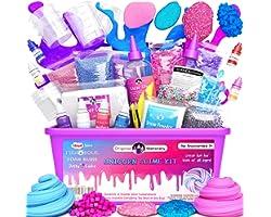 Original Stationery Unicorn Slime Kit Supplies Stuff for Girls Making Slime [Everything in One Box] Kids Can Make Unicorn, Gl