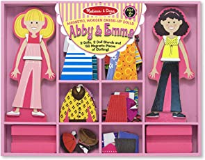 Melissa & Doug 4940 Abby and Emma Deluxe Magnetic Dress-Up Set