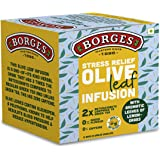 Borges Stress Relief Olive Leaf Infusion, Lemongrass, Olive Leaves & Lemongrass, 10 Bag, 15