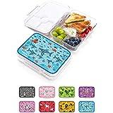Jarlson Boite a gouter Enfant - Lunch Box avec 4 compartimentss - Bento Box sans BPA - pour l'école et la Maternelle - 850 ML