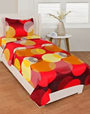 BSB Trendz Like Cotton Printed Single Bedsheet with 1 Pillow Cover, Size-90x60 inches Pillow Size-17x27 inches