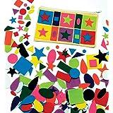 Baker Ross Formes en Feutrine Autocollantes (1 Paquet de 195) - Autocollants en Feutrine pour Enfants Multicolore