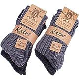 BRUBAKER Unisex Alpaca Wool Socks for the Cold Winter Days - Pack of 4
