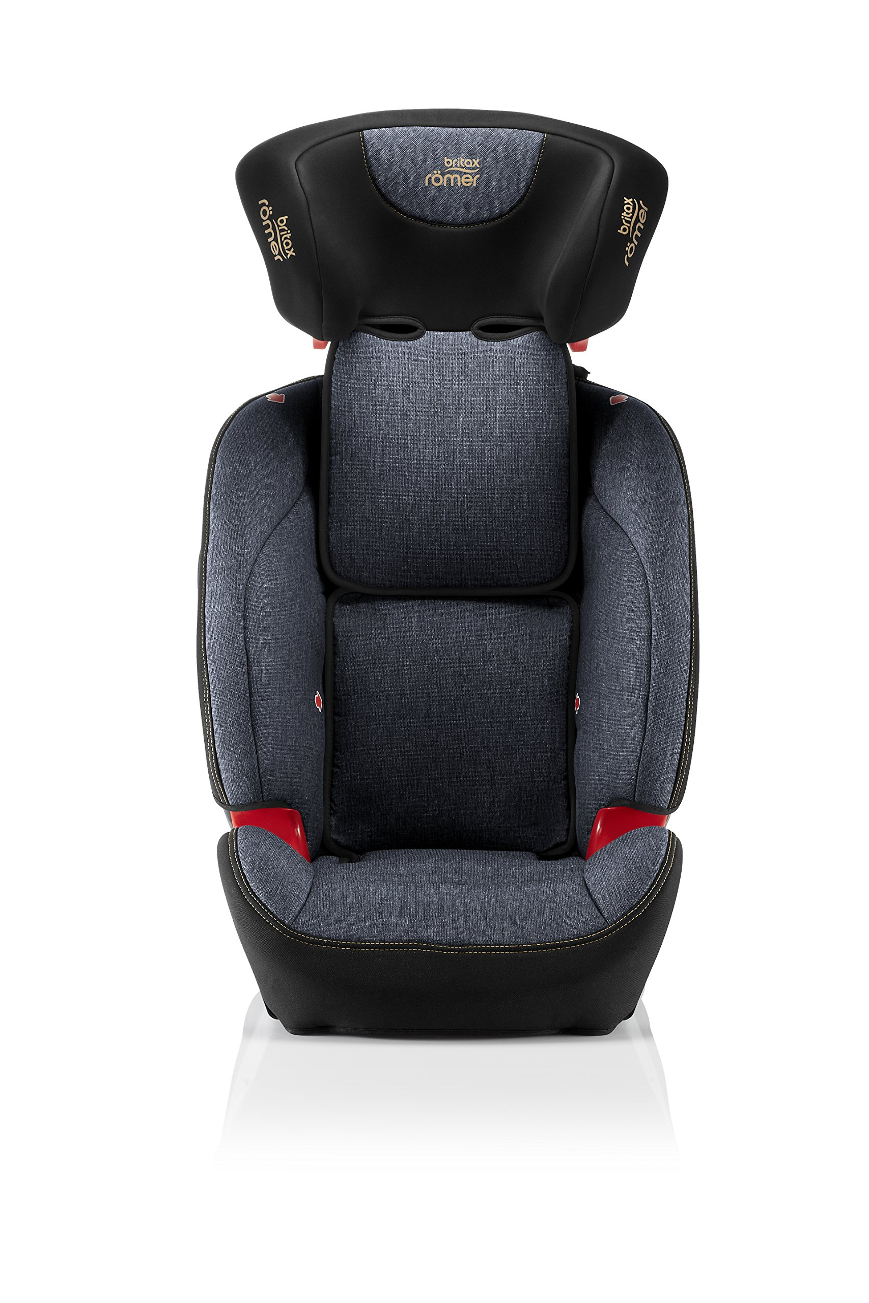 Britax Römer EVOLVA 1-2-3 SL SICT Group 1-2-3 (9-36kg) Car Seat - Blue Marble  This EVOLVA 1-2-3 SL SICT will come in a Blue Marble design cover which is made from a more premium fabric with extra detailing Enhanced Side Impact Protection (SICT) minimises the force of an impact in a side collision CLICK & SAFE audible harness system for that extra reassurance when securing your child in the seat 6