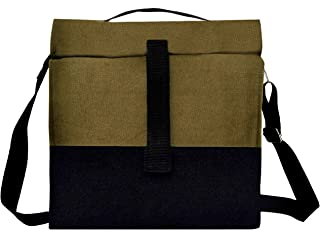 Marine Pearl Thermal Insulated Organic Canvas Lunch Bag with Adjustable Shoulder Strap