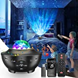 LED Sternenhimmel Projektor, Togaga Star Galaxy Projector Light 21 Beleuchtungsmodi 360° Rotierende Ozeanwellen Bluetooth Lau