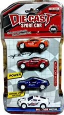 Allmart Enterprise Die-Cast Sports Metal Racing Car Toy For Kids - Set Of 4 Cars In Pack, Multicolor