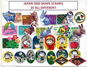 Collectors Palace Japan ODD Shape 25 Different Genuine Used Stamps for Collection