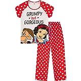 Disney Snow White Dwarfs Grumpy But Gorgeous Ladies Long Cotton Pyjamas UK Sizes 8/10 12/14 16/18 20/22