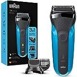 Braun Series 3 Shave&Style 310BT Elektrisch Scheerapparaat, Wet&Dry Scheermes Voor Man, Zwart/Blauw