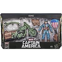 Marvel 80e anniversaire Legends Series - Edition Collector - Figurine 15 cm et moto Captain America