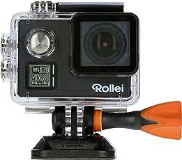 Rollei Actioncam 530 WiFi Action Cam (mit 4k Video Auflösung, Weitwinkelobjektiv, Bildstabilisierung, bis 40 m wasserfest, inkl. Unterwasserschutzgehäuse und Fernbedienung) schwarz