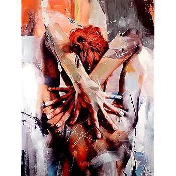 Pretty Nude Abstraktes Acrylgemälde Martin Klein Erotik Akt