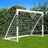 FORZA Fotbollsmål med låsningssystem [1.8m x 1.2m] | Vädersäkert PVC Trädgårdsmål för barn + Nät | Enkel montering | Fotbolls