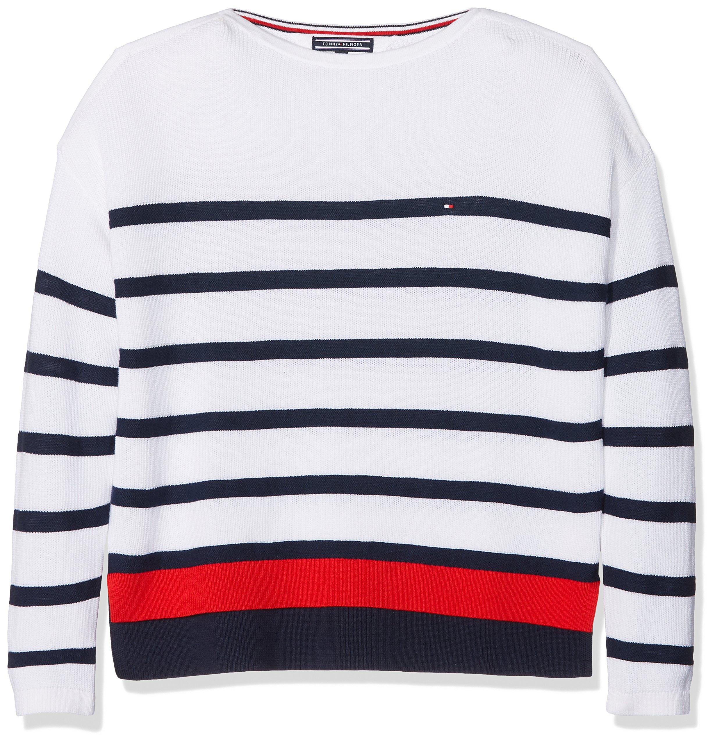 Tommy Hilfiger Delightful Stripe Bn Sweater suéter para Niñas