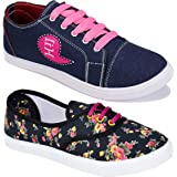 CAMFOOT Women Multicolour Latest Collection Sneakers Shoes-Pack of 2 (Combo-(2)-611-11029)