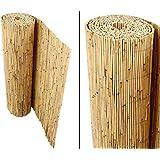 bambus-discount.com Schilfrohrmatten Premium für Balkon, Beach, 90 hoch x 600cm breit, Sichtschutz Matten Windschutzmatten