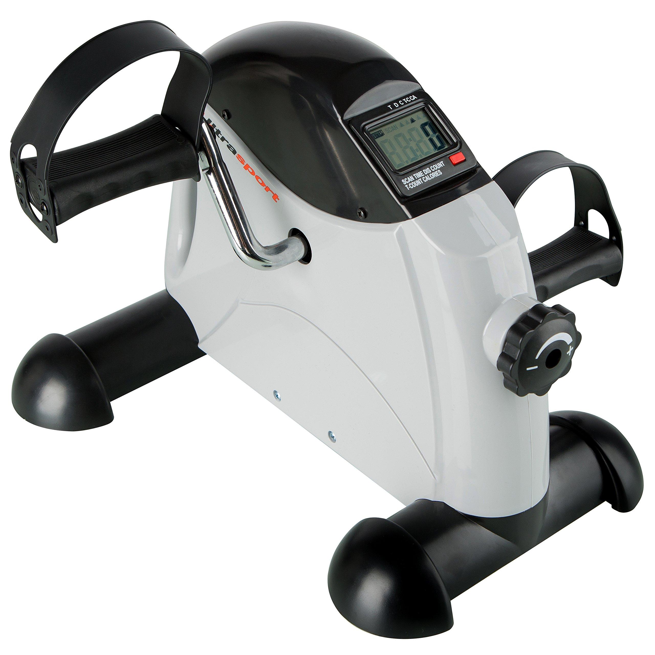 Mini-Bike Heimtrainer Pedaltrainer Bewegungstrainer Arm und Beintrainer mit LCD-Monitor Einstellbarer Widerstand Zuhause f/ür Senioren und Junge Schwarz