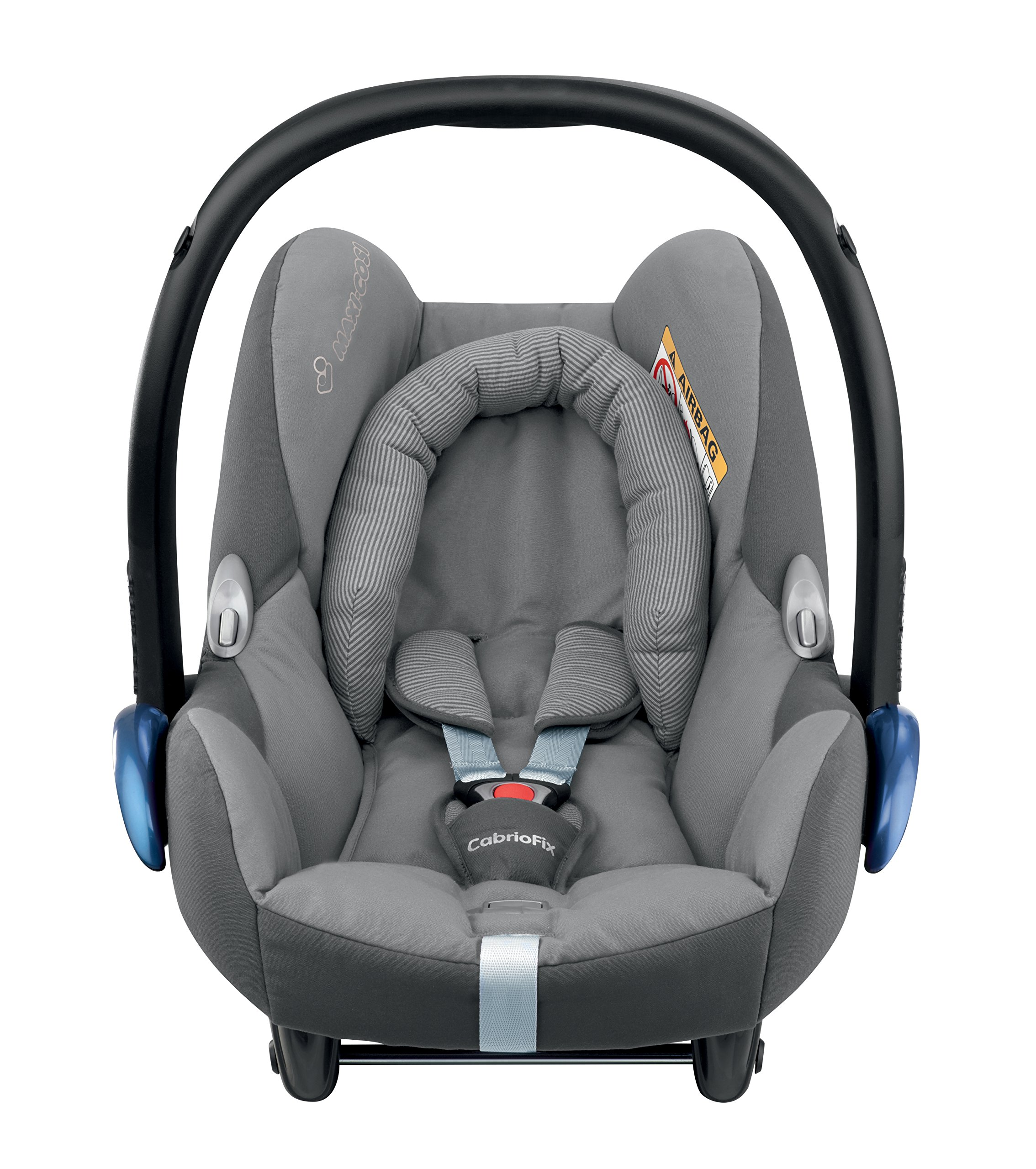 Maxi-Cosi CabrioFix Baby Car Seat Group 0+, ISOFIX, 0-12 Months, 0-13 kg, Concrete Grey Maxi-Cosi Suitable from birth to 13 kg (approximately 12 months) Compatible with Maxi-Cosi and Quinny pushchairs to form a travel system Easy installation in combination with Maxi-Cosi FamilyFix Base, EasyFix Base or a three-point seat belt 2