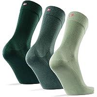 Bamboo Dress Socks 3 Pack, for Men & Women, Classic, Super Soft, Breathable, Premium Comfort, Blue, Grey, Green & Black