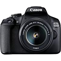(Renewed) Canon EOS 1500D Digital SLR Camera (Black) with EF S18-55 is II Lens/Camera Case