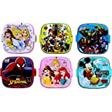 Laxmi Collection Perpetual Blisstm Fancy Double Layer Disney Theme Square Lunch Box for Kids,Gifts for Kids,13x13x10-cm(Multi