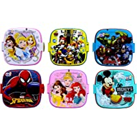 Laxmi Collection Perpetual Blisstm Fancy Double Layer Disney Theme Square Lunch Box for Kids,Gifts for Kids,13x13x10-cm…