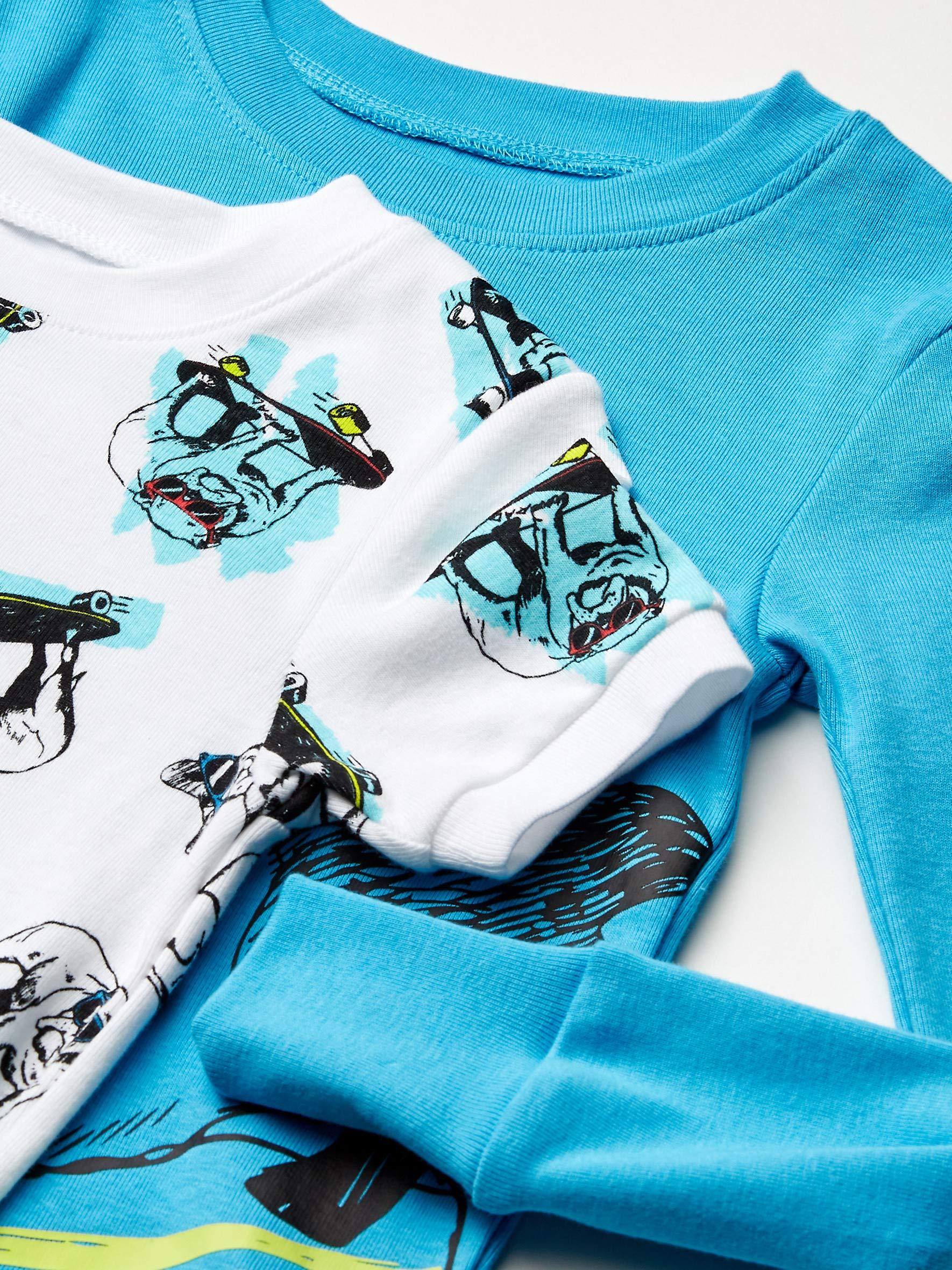 Marca Amazon - Spotted Zebra 4-Piece Snug-fit Cotton Pajama Set Unisex niños 2