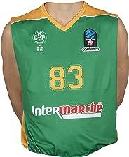 Bigsport Replica Bouteille Eurocup Limoges Csp Extérieur 2017-2018 Maillot de Basketball Homme