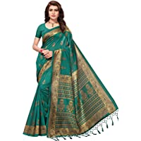Anni Designer Mysore Art Silk Maroon Saree With Blouse