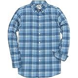 Dubinik® Camisa a Cuadros de Franela de Manga Larga para Hombre Camisa Casual de Corte Regular
