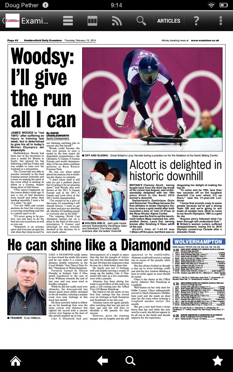 huddersfield examiner todays news