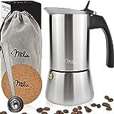 Milu Espresso Maker Inductie| 2, 4, 6, 9 Bekers | Roestvrij staal Espresso Pot, Stovetop Moka Pot, Coffee Maker Set inclusief