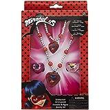 Joy Toy Miraculous 65991 - Juego de joyas (1 pulsera de perlas, 1 collar de perlas y 2 anillos, en caja de regalo, 12 x 4 x 1