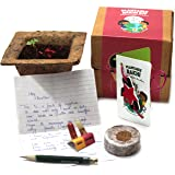 bioQ Eco Friendly Rakhi containing Seeds | Includes Coco Pot, Coco Peat, Roli & Chawal | Grow Plants from Rakhi | Design: Pin