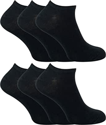 SOCK SNOB - 6 Pack Mens Cotton Ankle Low Cut Short Quarter Gym/Trainer Socks