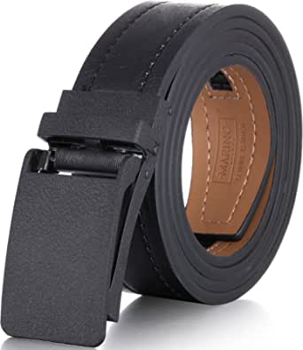 Marino Avenue Genuine Leather belt for Men, 1.5 Wide, Casual Ratchet Belt with Automatic Linxx Buckle