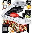 Fullstar Hachoir, coupe-légumes en spirales, presses-agrumes, éplucheur, pour légumes, oignons, salade, œufs, citron