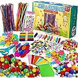 Yojoloin Activites Manuelles pour Enfants,1400+ Pièces Crafts Kits Loisirs Créatifs Bricolage,Matériel d'artisanat Comprenant