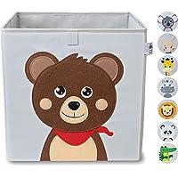 wonneklein – Caisse de Rangement Gris pour Enfants – Cube de Rangement de Jouets extra Fort, Pour Chambres des Enfants…