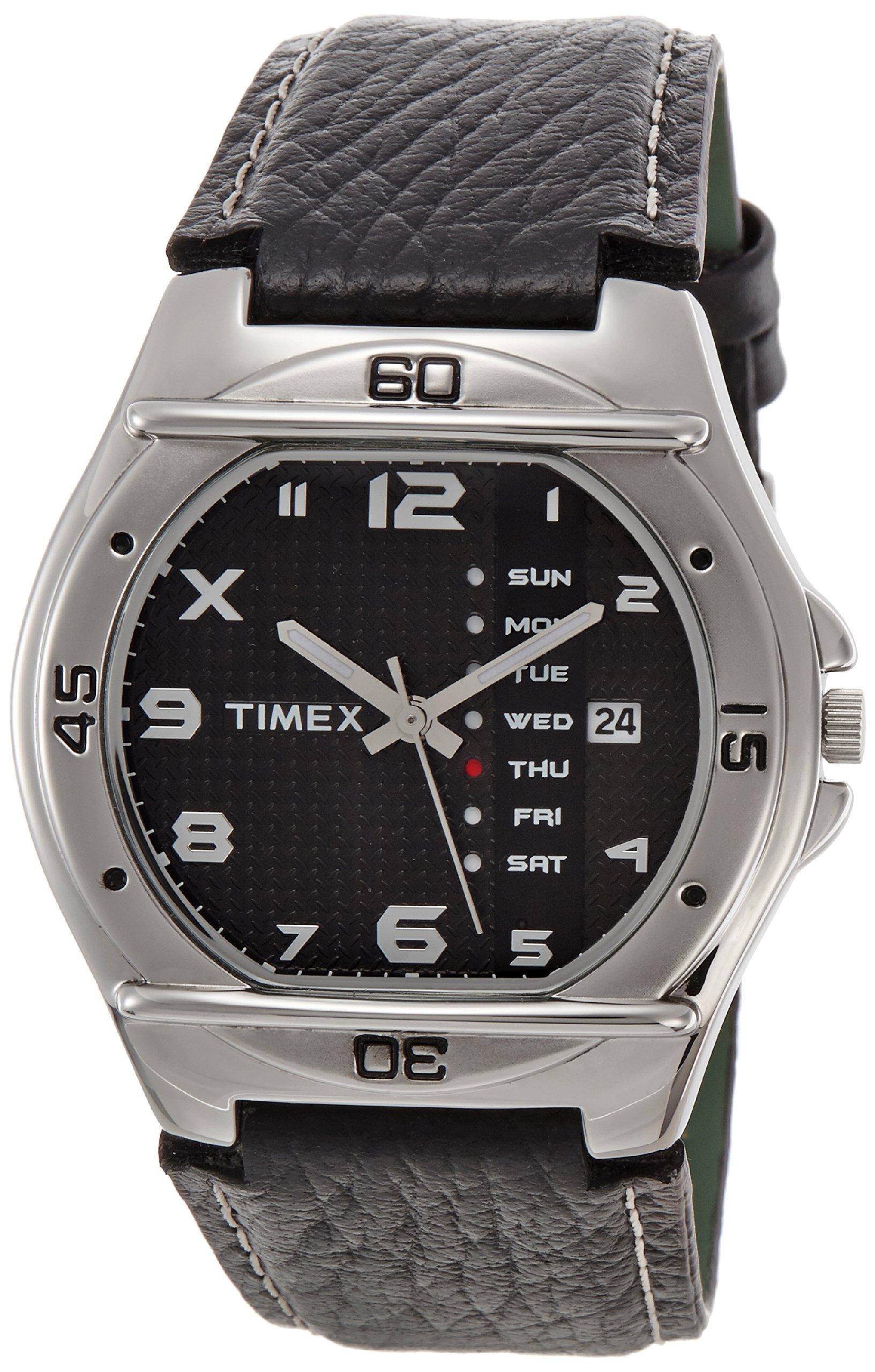 Timex Men's Fashion Analog Black Dial Watch