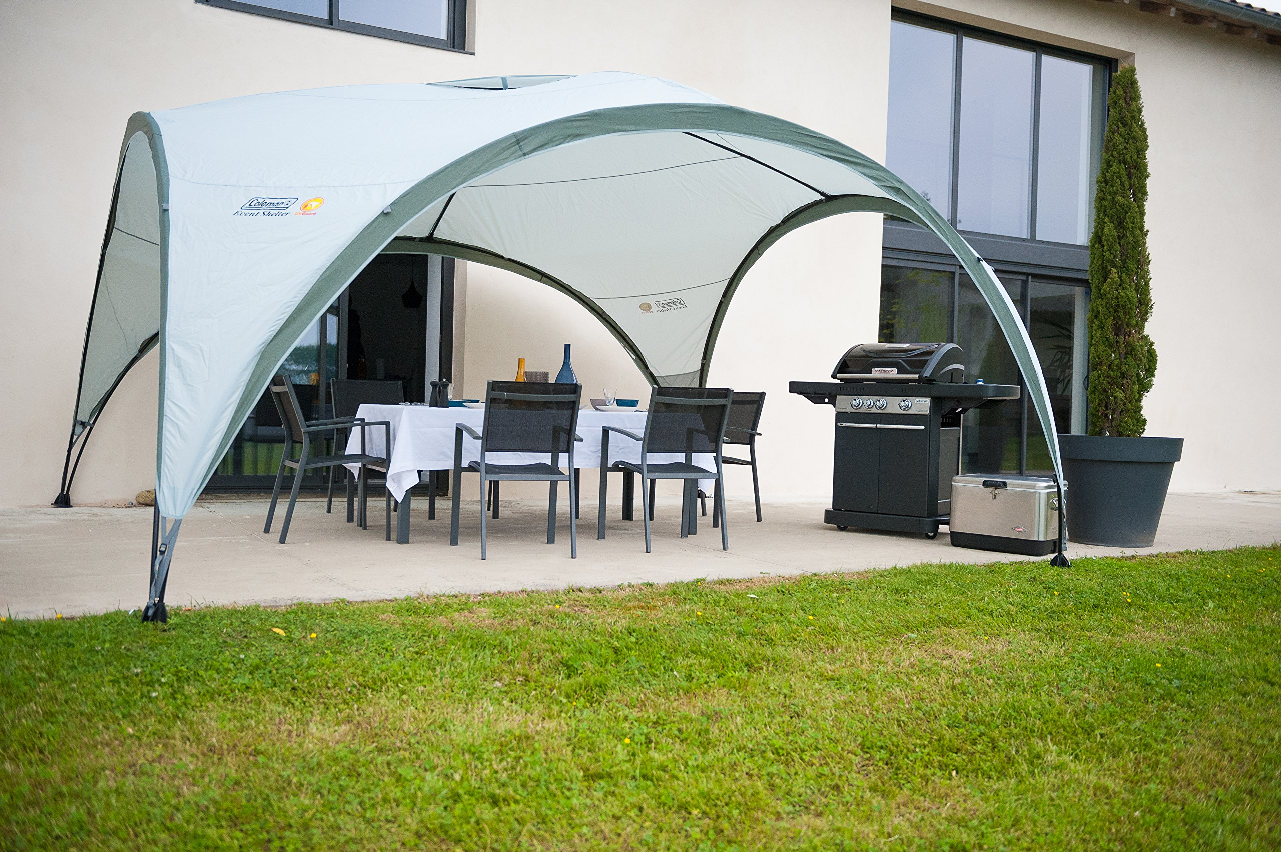 Coleman Gazebo Event Shelter for Festivals, Garden and Camping, sturdy steel poles construction, large Event tent, portable sun shelter with sun protection SPF 50+ 7