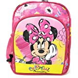 HM Disney Minnie Mouse 10 Inch Polyester School Backpack for Kids (HMHMSB 71177-MN)