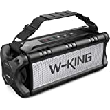 W-KING 50W(70W Gipfel) Bluetooth Lautsprecher IPX6 Wasserdicht, 24 Stunden Laufzeit, 8000mAh Power Bank, 30 Meter Reichweite,