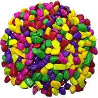 Wisket® 1 Kg Multicolour Asymmetrical Pebbles/Marbles for Decoration/Table Vase/Garden/Aquarium