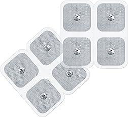 Sanitas selbstklebende Gel-Elektroden Pads, Nachkaufset, bestehend aus 8 Pads, passend für Sanitas EMS/TENS Geräte, 45 x 45 mm