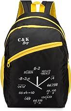 Chris & Kate Polyester 28L Black School Bag