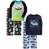 Simple Joys by Carter's Infant-and-Toddler-Pajama-Sets, Racer Cars/Space, 4T